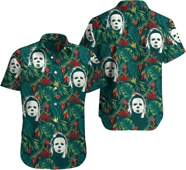 Floral Micheal_Myer Summer Horror Vacation Gift Hawaiian Shirt for Men Women