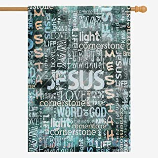 InterestPrint Religious Christian Jesus Quotes House Flag Home House Banner Decorative Flags for Party Yard Home Outdoor Decor 28