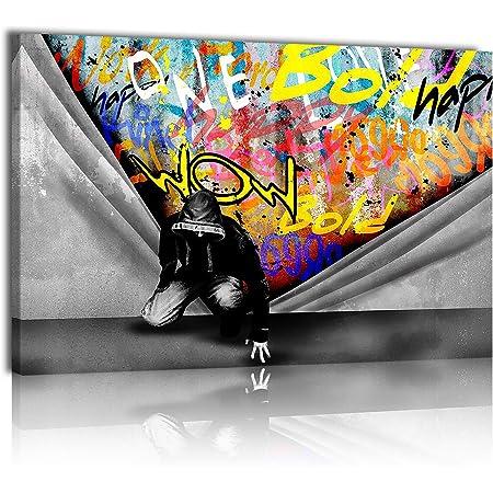 Banksy Ufo Graffiti Street Art 12X16 Inch Framed Art Print