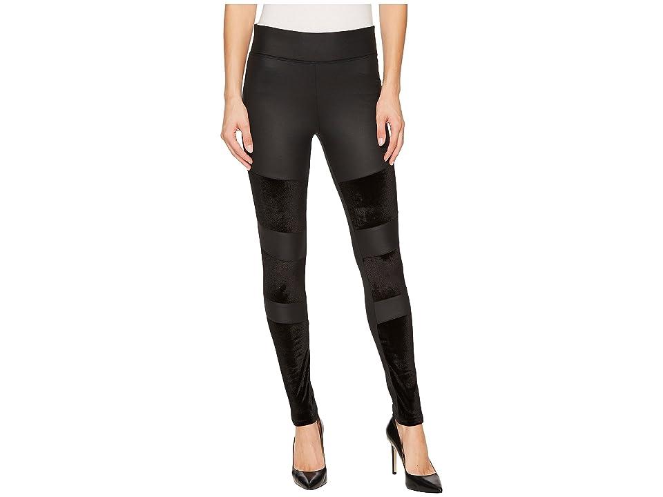 Yummie Velvet and Shine Moto Leggings (Black) Women