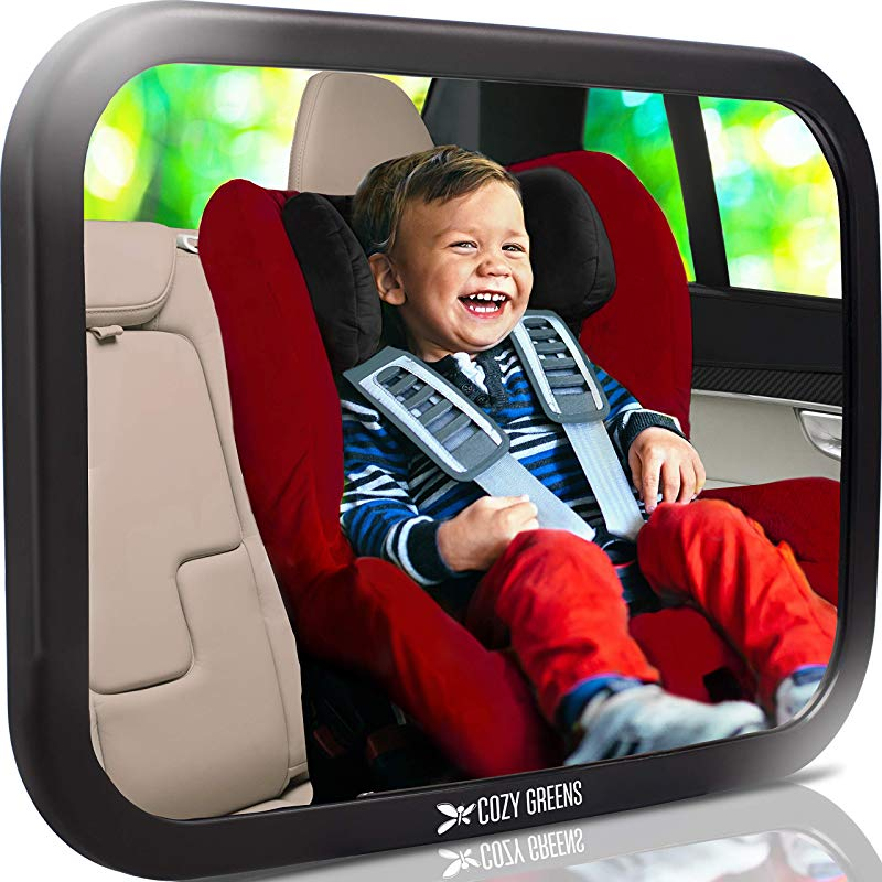 COZY GREENS Baby Car Mirror Most Stable View Infant In Rear Facing Seat 100 Lifetime Satisfaction Guarantee Safety Crash Tested Shatterproof Back Seat Backseat Crystal Clear View