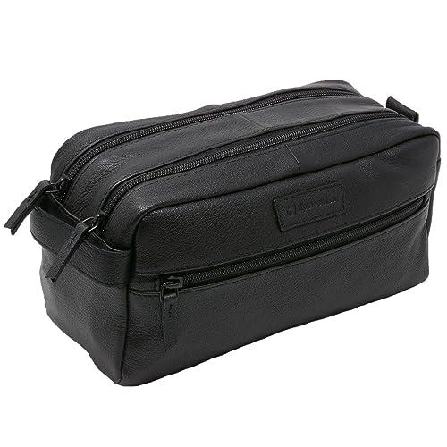 Alpine Swiss Sedona Toiletry Bag Genuine Leather Shaving Kit Dopp Kit Travel  Case a2518f33e6