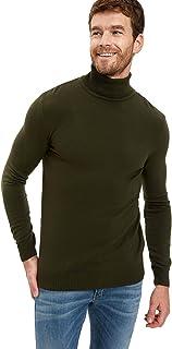 DeFacto Heren kleding en mannen shirts mannen slanke pasvorm mock hals lange mouwen tricot sweater voor mannen