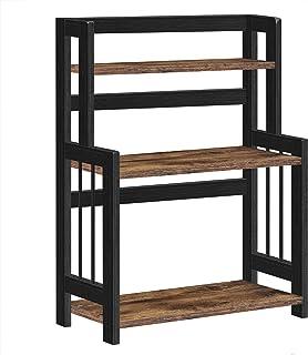 SONGMICS Étagère à épices, Étagère de rangement à 3 niveaux, Organisateur de bureau, cadre en bambou, pour cuisine, salle ...