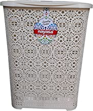 Nayasa Flower Laundry Basket Small (30 Liters Approx) (Ivory)