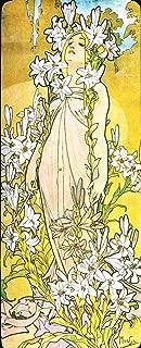 WholesaleSarong Lily The Flower Alphonse Mucha Art Nouveau Poster Modern Home Accent Wall Decor bar Decorations