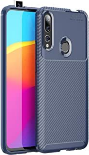 Huawei P Smart Z /Y9 Prime 2019 Case, Silicone Leather[Slim Thin] Flexible TPU Protective Case Shock Absorption Carbon Fib...