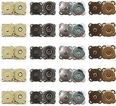 20 pièces Fermoir à Bouton Magnétique, Boutons Pression en Métal Boutons Pression à Coudre, pour Fermeture Sac à Main Sac ...