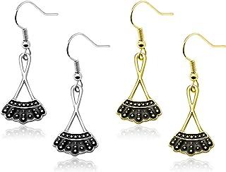 2 Pairs RBG Collar Dangle Earrings, Ruth Bader Ginsburg I...