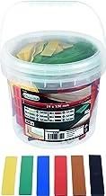 Connex Beglazingsblokken set 300-delig - 100 x 24 mm - Zes hoogtes van 1 tot 6 mm - op kleur gesorteerd - met ribbels - Va...