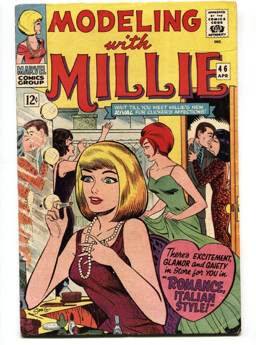 Modeling With Millie #46 1966-Marvel-paper dolls-hair styles-fas