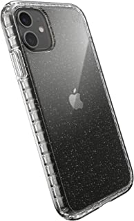 Speck Products Presidio Perfect-Clear with Impact Geo Glitter iPhone 11 Case, Clear with Gold Glitter/Clear, 136494-5636