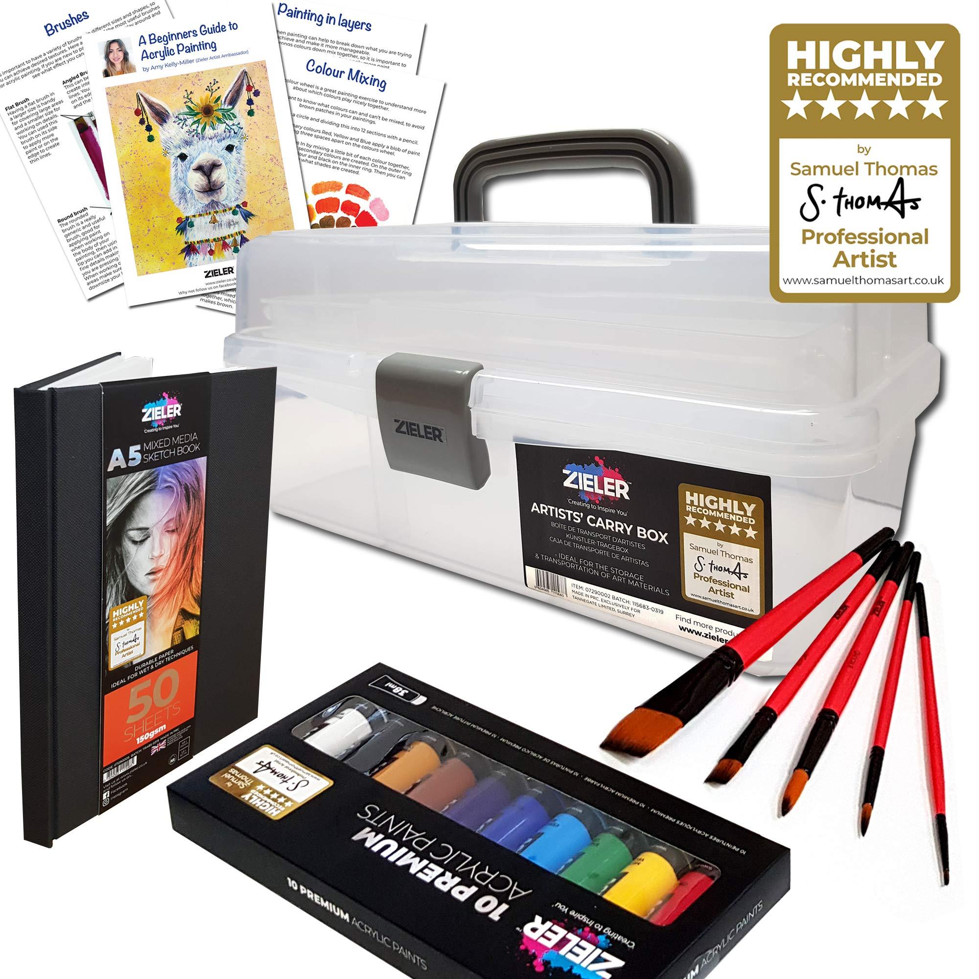 Set de regalo de acrílico para artistas, de Zieler®, caja de ...