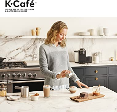 Keurig K-Cafe Single-Serve K-Cup Coffee Maker, Latte Maker and Cappuccino Maker, Comes with Dishwasher Safe Milk Frother, Cof