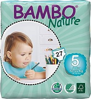 Bambo - 7016 - Pañales Ecológicos Bambo Junior T5 27 uds