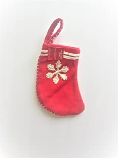 Wondershop Christmas Snowfake Mini Stockings Holiday Decoration Red