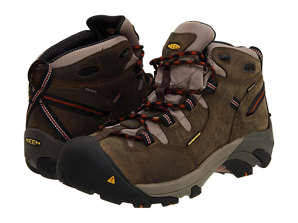 Keen Utility Detroit Mid Soft Toe (Black Olive/Leather Brown) Men