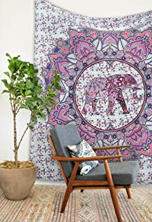 Magical Thinking Hippie Bohemian Tapestry Elephant Mandala Tapestry Tapestry Wall Hanging Boho Tapestry Hippie Hippy Tapes...