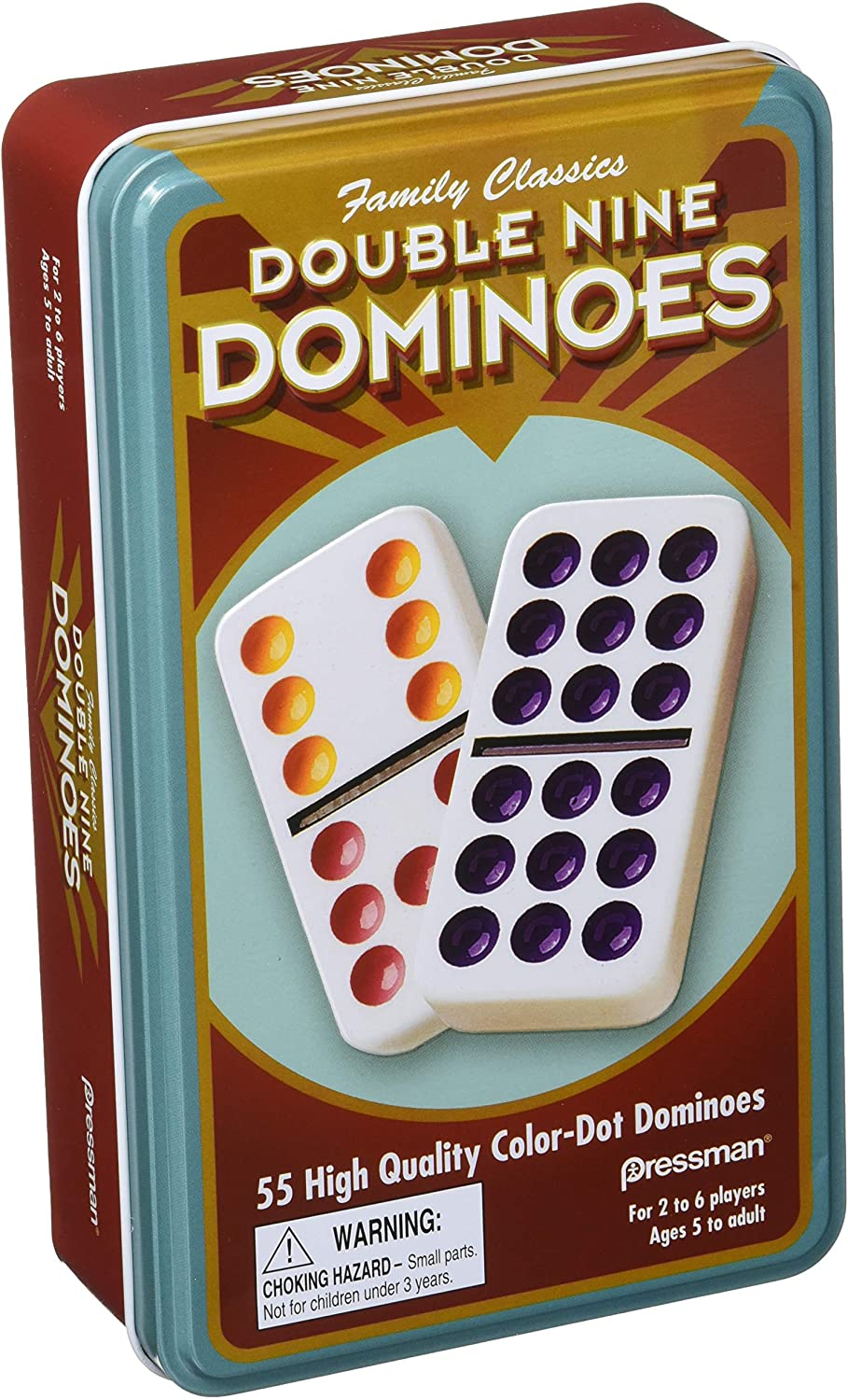 Pressman Our shop most popular Dominoes Double 70% OFF Outlet in 9 tin