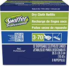 Swiffer Professional Duster Regular Sweeper Mop 10-inch Wide Dry Cloth Refills, Commercial Use on Hardwood, Tile or for Ha...