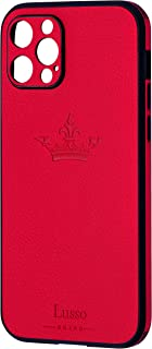 Lusso Brand-Cover in Pelle per Iphone 12/12PRO/11/11PRO/XR/SE2020 (IPHONE 12 PRO, red)