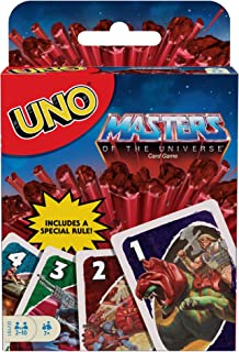 Uno Masters of The Universe Card Game with 112 Cards, Gift for Kid, Family & Adult Game Night for Players 7 Years Old & Up