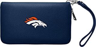 Littlearth NFL womens Nfl Soft Pebble Organizer Wallet - Zip Closure Wallet - Wristlet