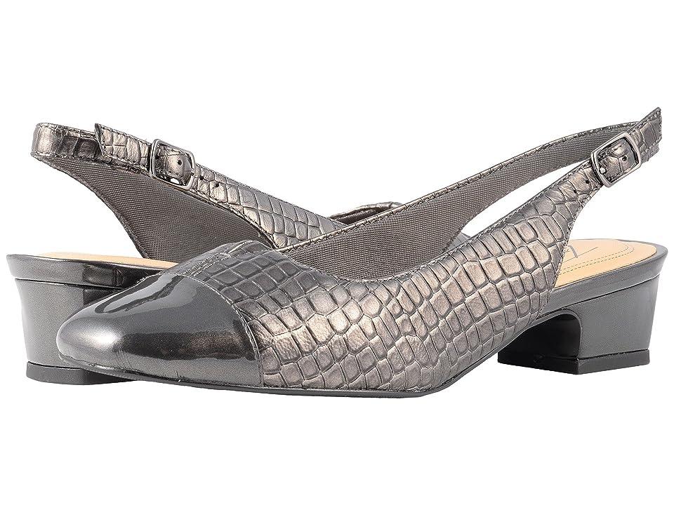 Trotters Dea (Pewter Croco/Patent) Women