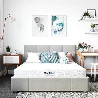 Classic Brands Cool Gel Memory Foam 6-Inch Mattress/CertiPUR-US Certified/Bed-in-a-Box, Queen, White