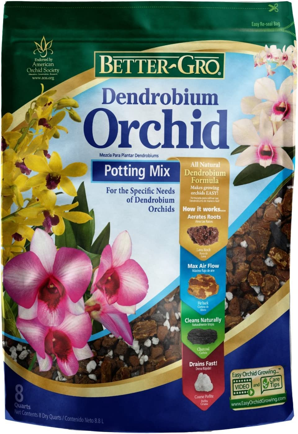 Selling Better-Gro Dendrobium Orchid Potting Quarts Finally resale start 8 Mix
