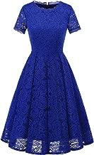 DRESSTELLS Women's Homecoming Vintage Tea Dress Floral Lace Cocktail Formal Swing Dress