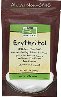 NOW Foods, Erythritol, Great-Tasting Sugar Replacement, Zero Calories, Low Glycemic Impact, Kosher, 1-Pound