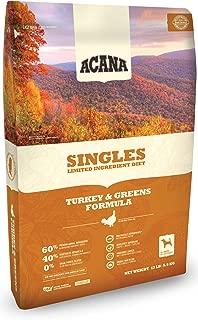 ACANA Turkey & Greens Comida seca para perros 25 Lb. Bolso. con comida fresca para perros sin granos de pavo y verduras verdes de Kentucky
