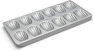 "Cuisinart Madeleine Pan, 7"" x 15"", Silver/Black"
