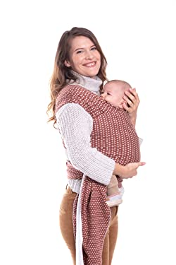 Boba Wrap Baby Carrier, Hali - Original Stretchy Infant Sling, Perfect for Newborn Babies and Children up to 35 lbs
