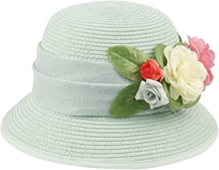 fd88911a6c3 Epoch Women s Gatsby Linen Cloche Hat With Lace Band and Flower