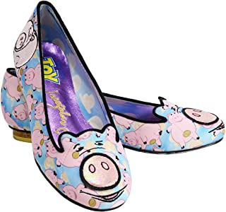 Irregular Choice X Disney Toy Story Put A Cork in It Women's Flat Shoes Hamm Pig Applique Printed Fabric