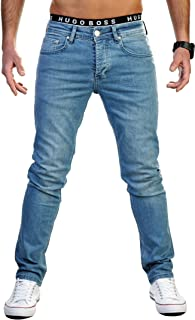 Gelverie Men's Slim Fit Basic Stretch Jeans Pants for Men from W29 to W44