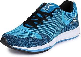 REFOAM Men's Black & Sky Mesh Running Sport Shoes