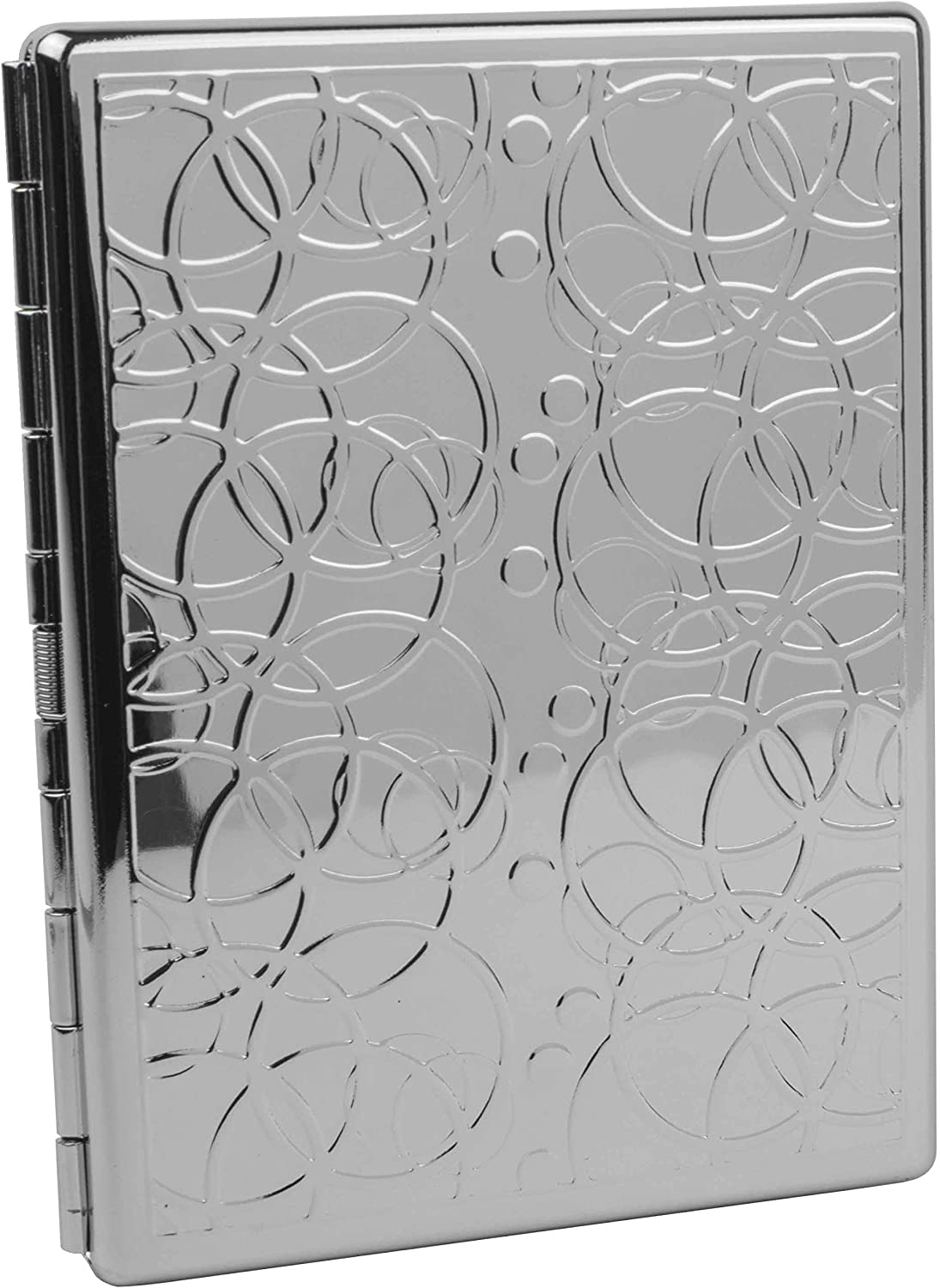 Popular brand Silver Rings Compact 9 100s Metal-Plated Colorado Springs Mall Case Stas Cigarette