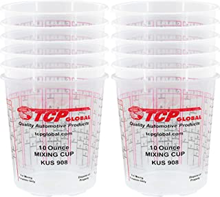 Custom Shop Box of 12 Each - 10 Ounce Paint Mixing Cups Cups Have calibrated Mixing ratios on Side of Cup Box of 12 Cups
