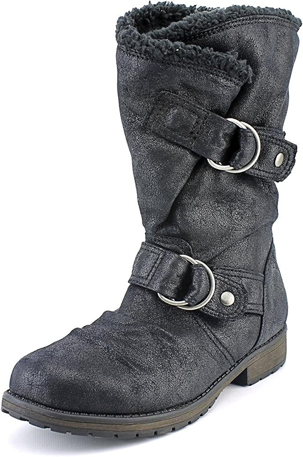 Rampage Sugar Women's Jossie Fabric-Synthetic Mid Calf Boot