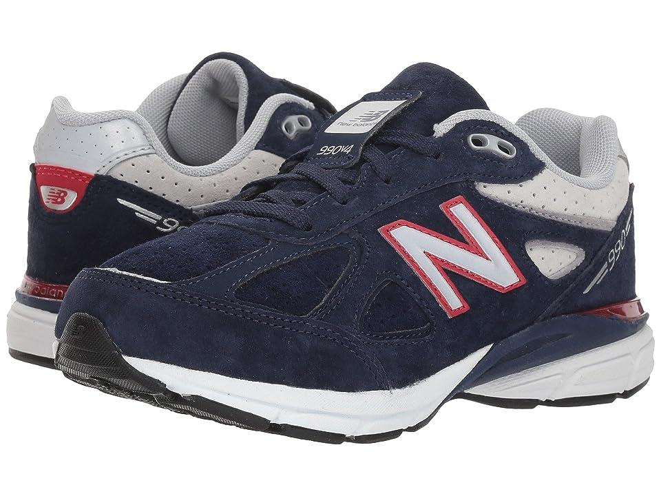 New Balance Kids KJ990v4P (Little Kid) (Blue/Red) Boys Shoes