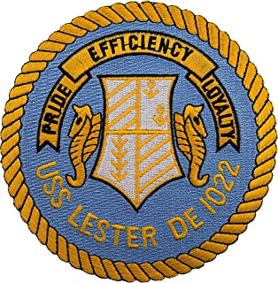 USS Lester DE-1022 Patch Full Color