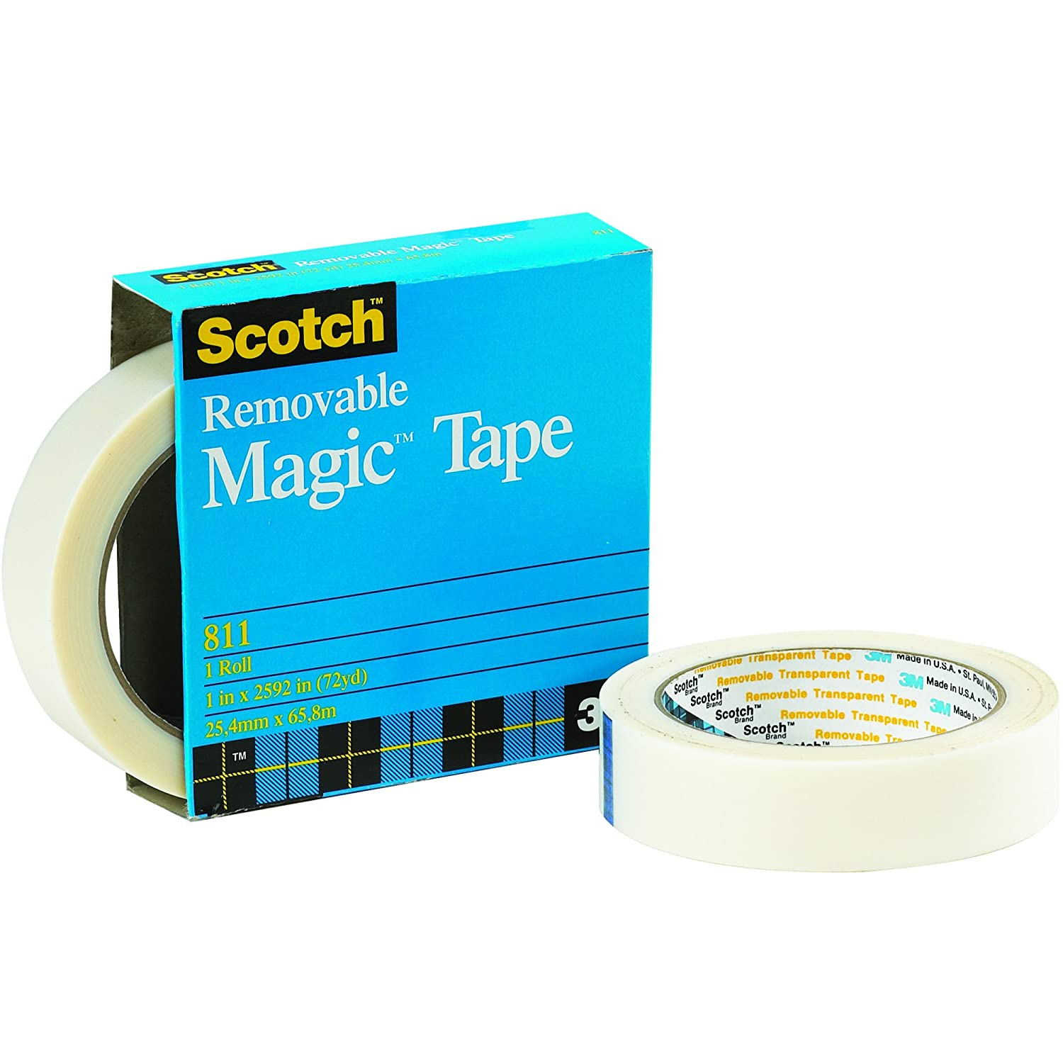 Scotch 811 Magic Tape Removable 2.0 Mil yds Trans 36 Max 68% OFF 25% OFF x 1 2