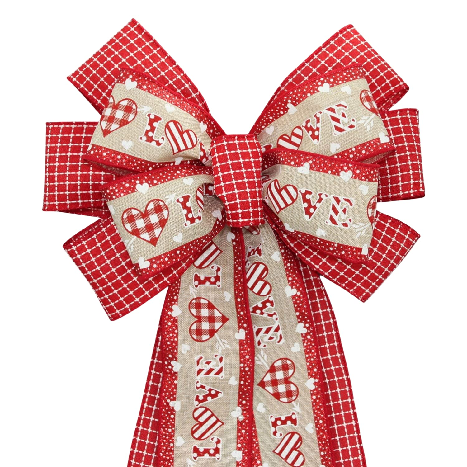 shipfree Patterned Love Valentine's Day San Diego Mall Bow Wreath