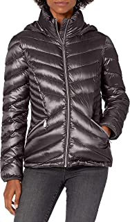 womens Chevron Packable Down Coat