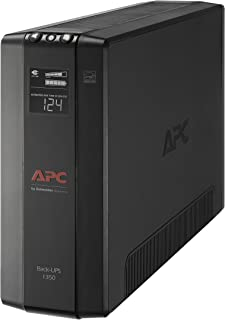 APC UPS BX1350M, 1350VA UPS Battery Backup Surge Protector, Backup Battery Uninterruptible Power Supply with AVR and LCD Display, APC Back-UPS Pro Series (Renewed)