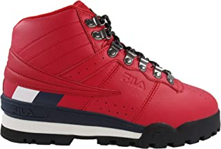 Mens Fitness Hiker MID Boot,Red/Navy/White,10.5