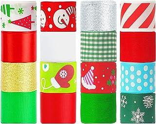BENOYHO 80 Yards 1`` Christmas Ribbon for Gift Wrapping Ribbon for Crafts, Grosgrain Holiday Christmas Gift Ribbon, 1 Inch...